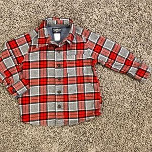 5/$25 OshKosh boys plaid flannel shirt